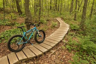 """BIKING 01220  """"Singletrack Boardwalk""""  Britton Peak singletrack trails near Tofte, MN"""