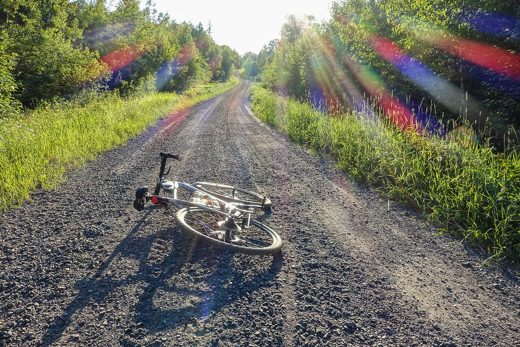 """BIKING 01170<br /> <br /> """"Sweet gravel ride on the 4th of July!""""<br /> <br /> Otter Lake Road - Grand Portage State Forest, MN"""