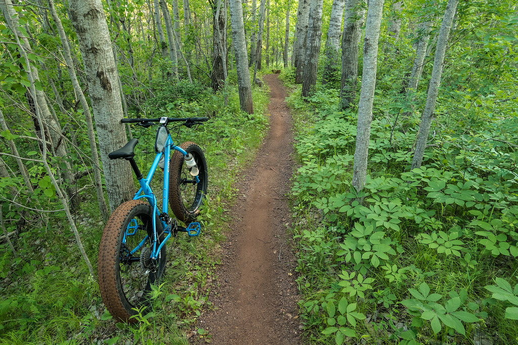 """BIKING 05849<br /> <br /> """"Cruising Easy Street""""<br /> <br /> Cuyuna Country State Recreation Area, MN"""
