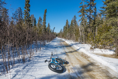 "BIKING 01693  ""Spring Riding - Icy Trails"""
