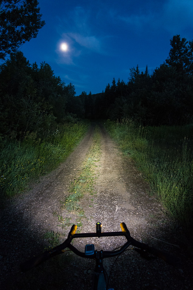 "BIKING 06229<br /> <br /> ""Biking under an August moon""<br /> <br /> Grand Portage, MN"