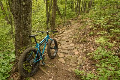 """BIKING 01271  """"Rocky Ride on Crosscut Trail""""  Britton Peak singletrack trails near Tofte, MN"""