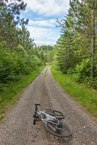 BIKING 01028  One of my favorite stretches of gravel road...  Grand Portage, MN