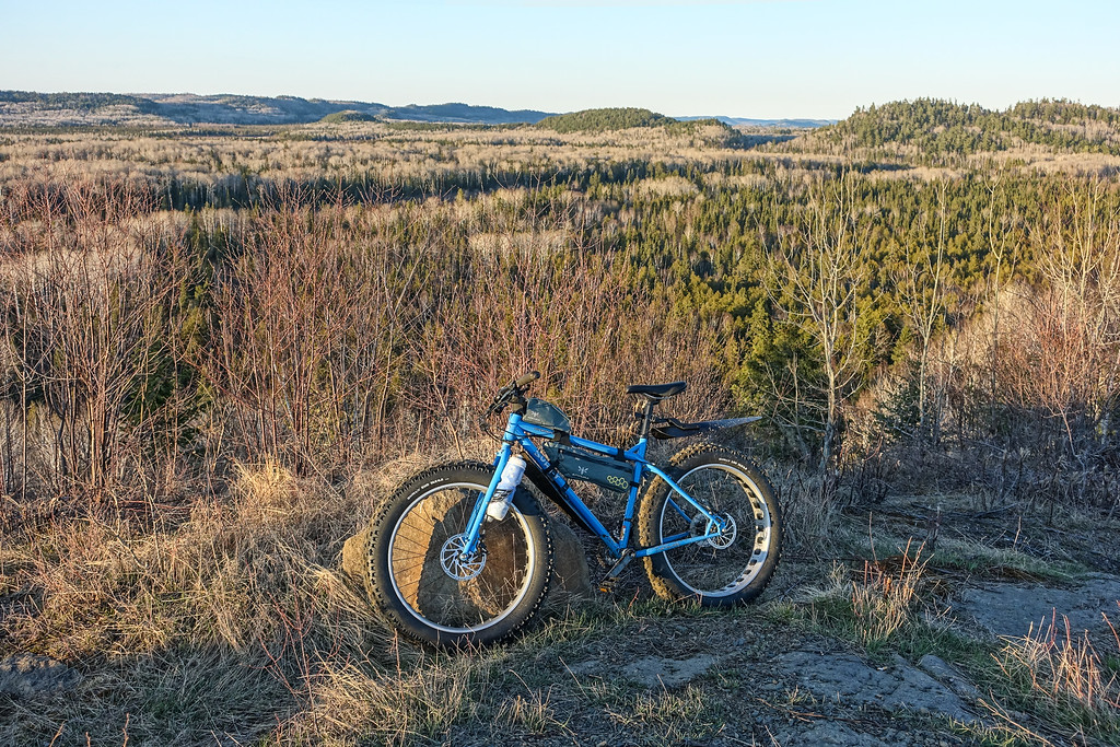 """BIKING 09877<br /> <br /> """"The view was worth the ride!""""<br /> <br /> Grand Portage State Forest, MN"""