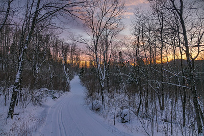 """Sunset on the Sugarbush Trails"""