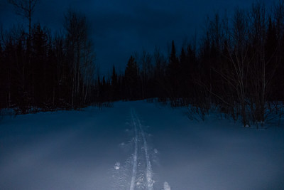 "CROSS COUNTRY SKI 05381  ""Night Ski""  Grand Portage, MN"