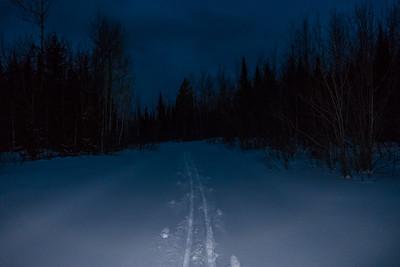 "CROSS COUNTRY SKI 05381  ""Night Ski""  Grand Portage, MN"