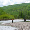 Fishing near Fairbanks, Alaska.
