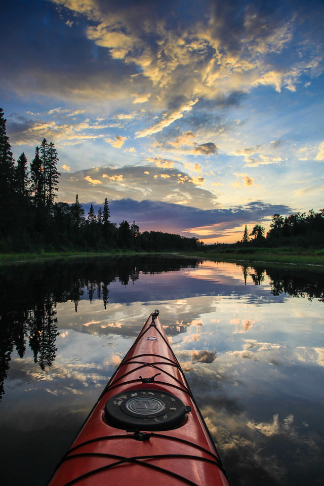 "KAYAKING 8215<br /> <br /> ""Crazy sunset on the Pigeon River""<br /> <br /> Grand Portage, MN"
