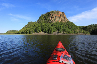 "KAYAKING 5269  ""Kayaking on South Fowl Lake near Goose Rock""  Cook County, MN"