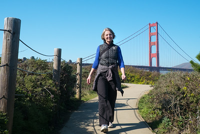 Diane and the Golden Gate Bridge