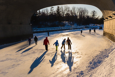 Skating on the Rideau Canal