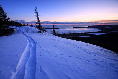 "SNOWSHOEING 4511  ""Snowshoe Trail, Mt. Josephine"""