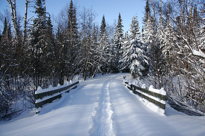 "SNOWSHOEING 5071  ""Winter Wonderland""  Snowshoe Path, High Falls Trail - Grand Portage State Park"