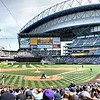 Safeco Field before the really large screen went up in 2013