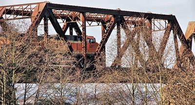 Train and Bridge from Ballard Locks - Jan 25 - 2015