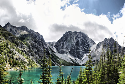 Lake Colchuck - Softened in Paint with Oil Effect