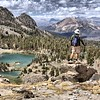 9500' on the Duck Pass Trail looking towards Mammoth Lakes, CA - 2012 - Good Friend Dan on the Lookout