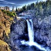 Not how one normally sees Snoqualmie Falls