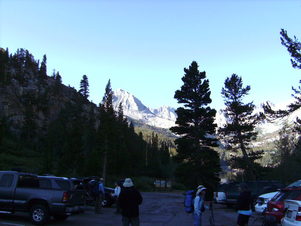 The view from the South Lake parking lot, to the south. I think that's Herd Peak.