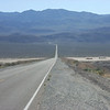 After turning east on CA-190, this is what you see. The Panamint Range looms ahead, and on the other side of that is Death Valley (although at this point, you are already in Death Valley National Park).