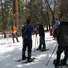 Getting ready to do a little snowshoeing.