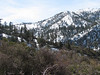 Looking toward Bighorn Peak. The saddle, if we had made it, would be on the left side of this photo.