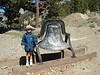 Kids love bells, I guess. This one is by the Baldy Ski School. Don't know the history of it.