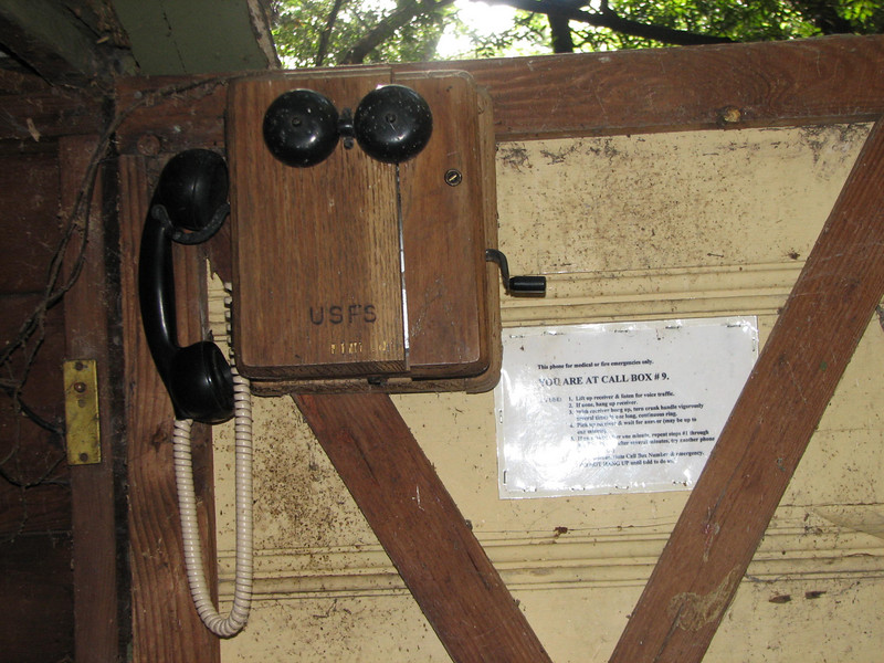 Inside each call box, you find -- get this -- a hand-crank telephone!