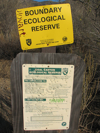 Recon hike in Coal Canyon