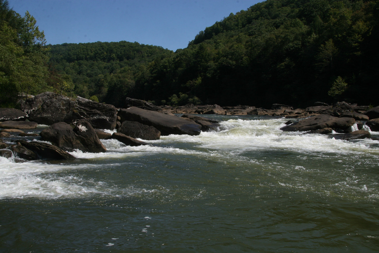 Initiation, looking upstream at 564 cfs