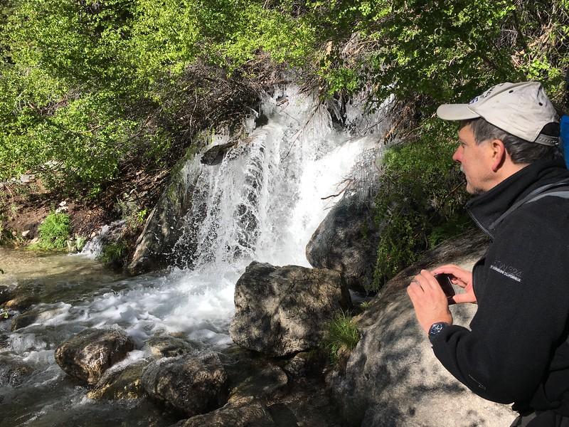 The flow at N. Fork Lone Pine Creek