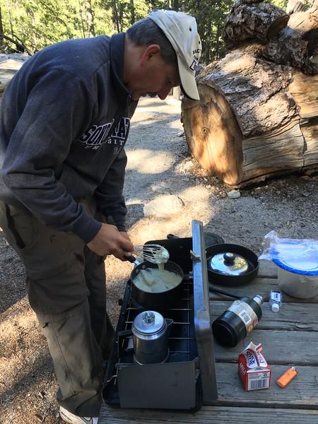 Pre-hike dinner