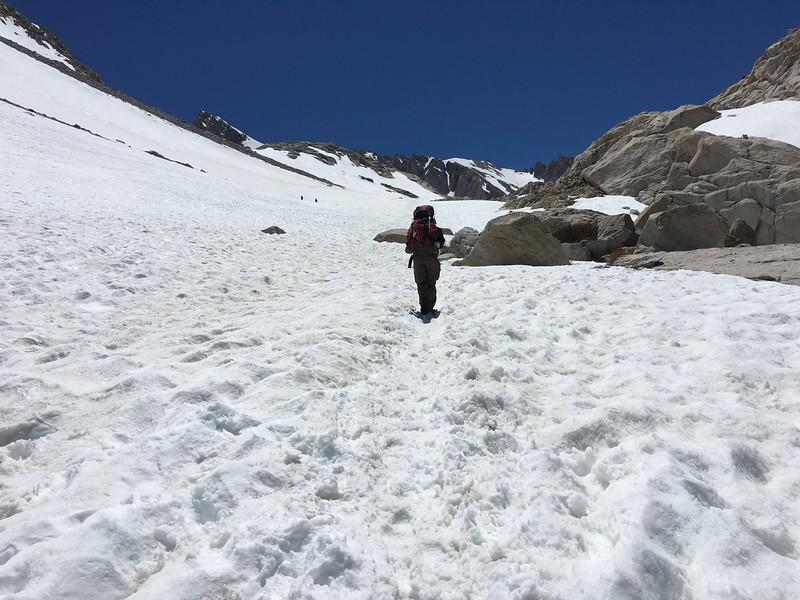 Last big stretch to Trail Camp