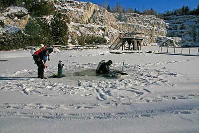 ICE  DIVING  AT  MORRISON'S  QUARRY