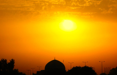 Baghdad Mosque at Sunset