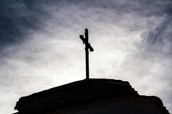 Steeple Cross in Silhouette