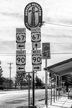 Marfa Texas Highway Signs