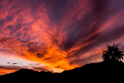 Mountain Sunset Silhouette