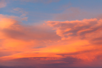 Orange Cloudy Sunset 1