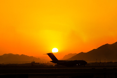 Globemaster at Sunset