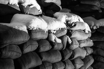 Snowy Sandbags
