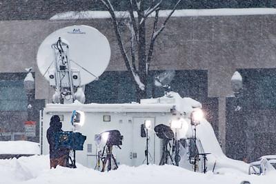 CNN Remote News Crew on Pennsylvania Avenue