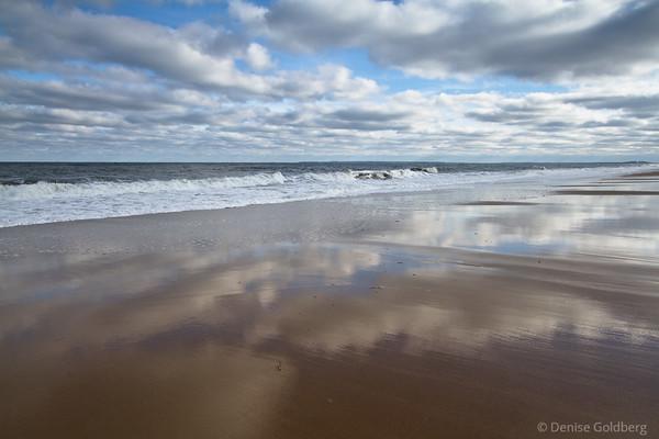 beach reflections, Parker River National Wildlife Refuge