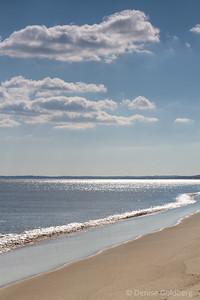 sparkling ocean waters