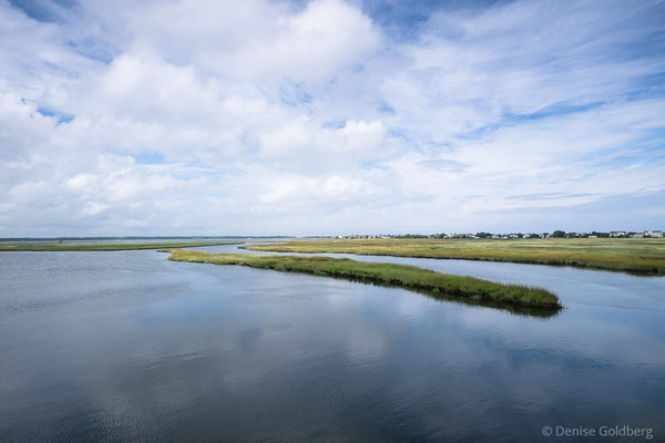 mirrored clouds, as seen from the bridge to Plum Island