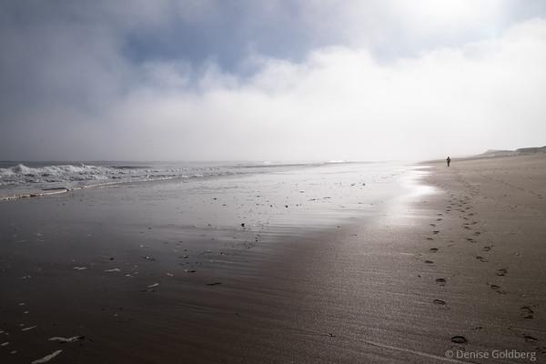 walking into fog