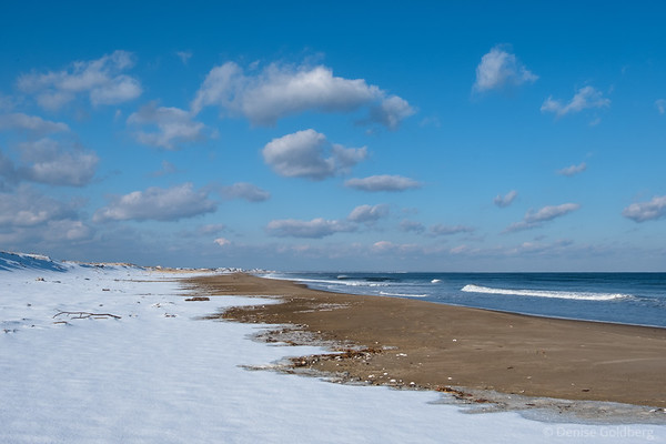 snow on the beach, Parker River National Wildlife Refuge