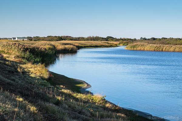 on the dike, at the Parker River National Wildlife Refuge