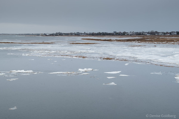 view from the bridge to Plum Island
